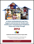 image of a cover for a technical report In-Home and Residential Long-Term Supports and Services for Persons with Intellectual or Developmental Disabilities